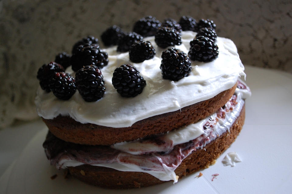 Finished blackberry jam cake!