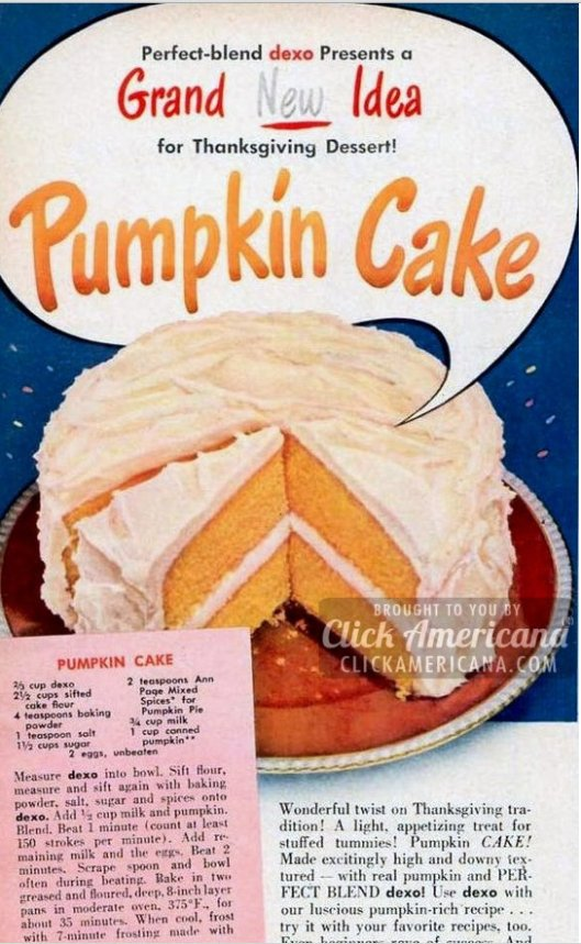 The Dexo pumpkin cake recipe