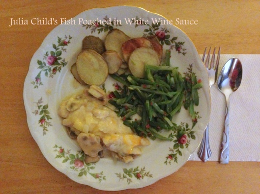 Julia Child's Fish Poached in White Wine Sauce